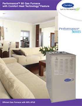 Performance 80 Gas Furnace with Comfort Heat Technology