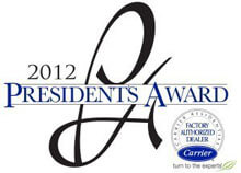 2012 Carrier President Award Winner